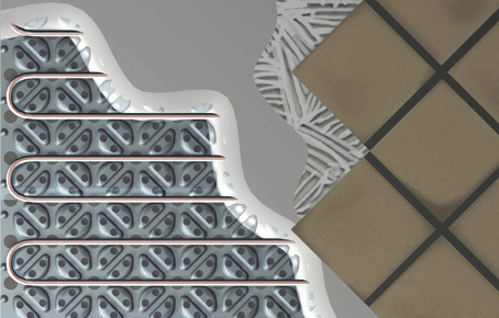 Gulvvarme lav byggehøjde